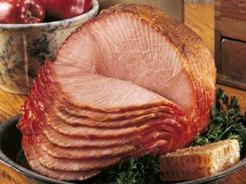 (Nueske Spiral Sliced Honey Glazed Smoked Ham, Medium: 6 - 7 lbs)