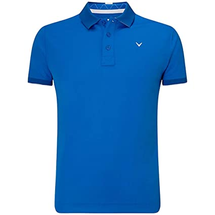 07d4facd1 Callaway Golf 2019 Mens Opti-Dri X Range Contrast Tipped Polo Shirt Lapis  Blue Medium. Roll over image to zoom in