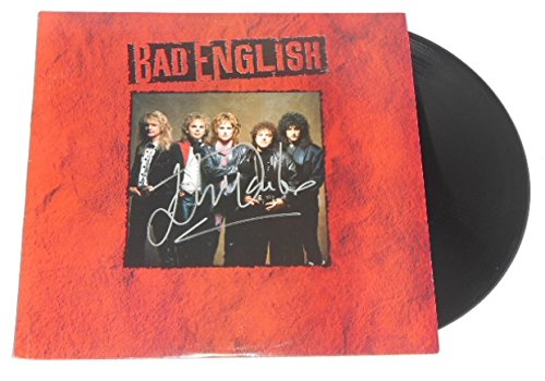 (Bad English When I See You Smile John Waite Signed Autographed Lp Record Album with Vinyl Loa)