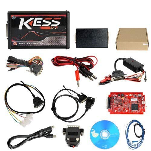 Scan Tools Best A++ Red/Green V5 017 V2 47 Kess V2 2 47 5 017 Online  Version and No Token Limited Get Winols ECM Titianiam 3 Gift - (Color: Kess  red)