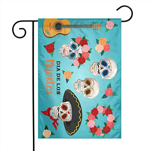 Woaiwodehuayuanqi Invitation Set to The Day of The Dead Party DEA Home Sweet Home Garden Flag Vertical Double Sided Spring Summer Yard Outdoor Decorative 12 X 18 Inch-Holiday Flag ()
