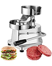 Commercial Hamburger Patty Press Maker Burger Forming Machine Stainless Steel Grill Burger Press Tool with 500Pcs Greaseproof Papers, 4/5/6Inch Burger
