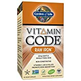 #9: Garden of Life Iron Complex - Vitamin Code Raw Iron Whole Food Vitamin Supplement, Vegan, 30 Capsules