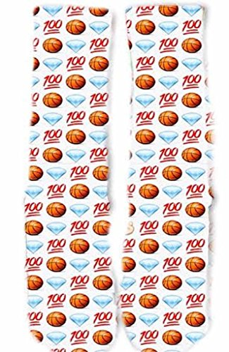 KOS Unisex 100 Emoji Basketball Socks