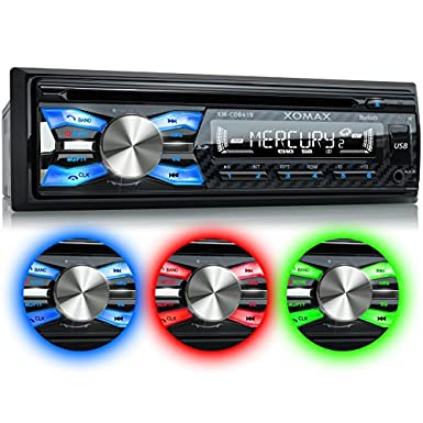 XOMAX XM-CDB619 Car Stereo with CD-Player + Bluetooth Hands-free & music  transfer + USB port (plays up to 128 GB) and SD-card-slot (plays up to 128