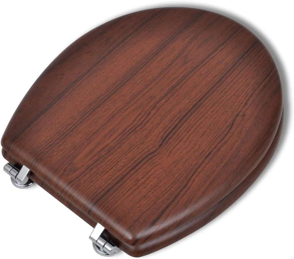 vidaXL Abattant WC MDF Blanc Si/ège de Toilette Lunettes WC Cuvette Standard
