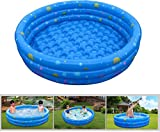 【Inflatable】GPCT [52 INCH] Collapsible Bathing In-Home/Ball Pit Kiddie Baby Swimming Pool. Durable, Heavy Duty, Bathing Bath Tub Wash Pond Water Washer For Toddlers, Dogs, Cats, Pets [BLUE]