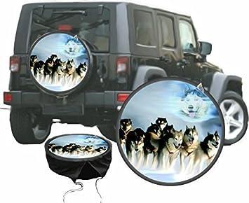 Funda para rueda de repuesto protectora Husky Perro de Trineo para su Jeep: Amazon.es: Coche y moto