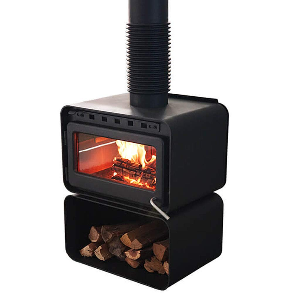 XLOO High-Efficiency Wood Stove,Fireplace Heater - 68,000 BTU,Thickened cast Iron, 150KG, high Temperature Resistant Glass, Black Matte by XLOO
