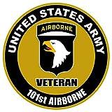 1 Pc Zenith Fashionable US Army Veteran 101st Airborne Sticker Sign Window Outdoor Indoor Size 4
