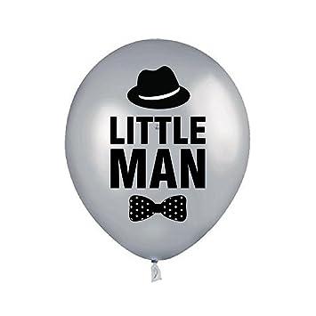Amazon Com Silver Little Man Balloon Little Man Birthday Party