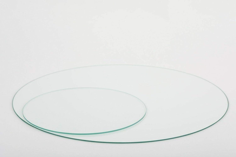 Glasplatte Rund Tischplatte Klarglas Kreis 6mm stark /Ø 10 cm Durchmesser Scheibe aus Glas f/ür K/üchentisch Schreibtisch Gartentisch Stehtisch Sofatisch Glasscheibe Tisch 8V-O5ZK-OZPN