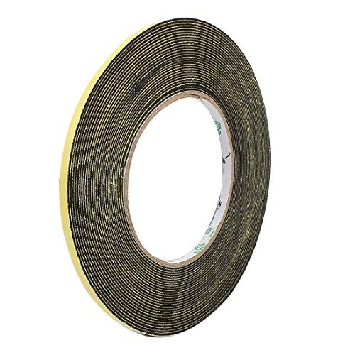 uxcell 5mm Width 1mm Thickness Single Side Sponge Foam Tape Black 10 Meter Length