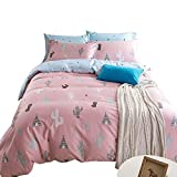 Best Bed  A Bag Sets   Students - VClife Queen Chic Pink Duvet Cover Cotton 200 Review