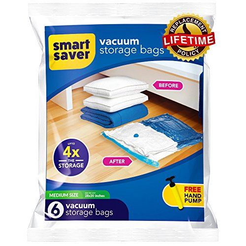 Space Bags Heavy Duty Vacuum Storage Bags with FREE Hand-Pum