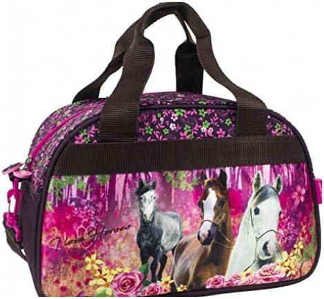 Pony Einhorn Pferd Horses Hengst REISETASCHE TASCHE SPORTTASCHE Mit Sticker Von Kids4shop SCHULTASCHE