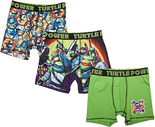 Fashion Teenage Mutant Ninja Turtles Action Underwear 3 Pack Boxer Briefs - X-Small (Fashion Teenage)