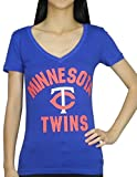 Pink Victoria's Secret Womens MINNESOTA TWINS V-Neck T Shirt / Tee