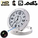 fannuoyi Security Camera Clock Video Recorder Cam Sound Motion Detector Mini DVR Nanny Cam