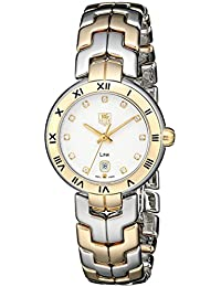 Womens WAT1450.BB0955 Diamond-Accented Two-Tone Bracelet Watch. TAG Heuer
