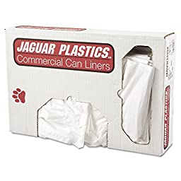 Jaguar Plastics JAG VW3339X Low-Density Can Liner, 33\