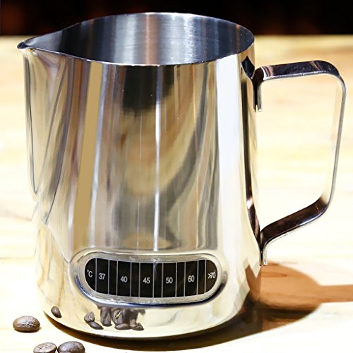 MagiDeal Coffee Tool Milk Frothing Pitcher Jug with Thermometer Espresso Tamper 58mm by MagiDeal (Image #6)