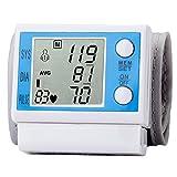 Fully Automatic Wrist Blood Pressure Cuff Monitor, English Electronics Wrist Measuring Instrument, Adjustable Cuff and Irregular Heartbeat Indicator