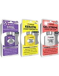NAIL-AID Hardener + Keratin Growth + Gel Top Coat, Clear...