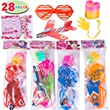 Toys : JOYIN 28 Pack Kids Valentines Day Gift Assorted Novelty Toy Set for Valentine's Classroom Exchange Prizes, Valentine Party Favors
