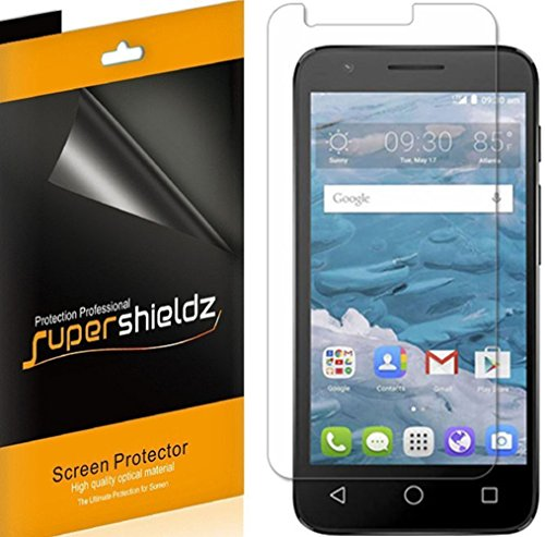 [6-Pack] Supershieldz for Alcatel Ideal Screen Protector, Anti-Bubble High Definition Clear Shield + Lifetime Replacements Warranty- Retail Packaging
