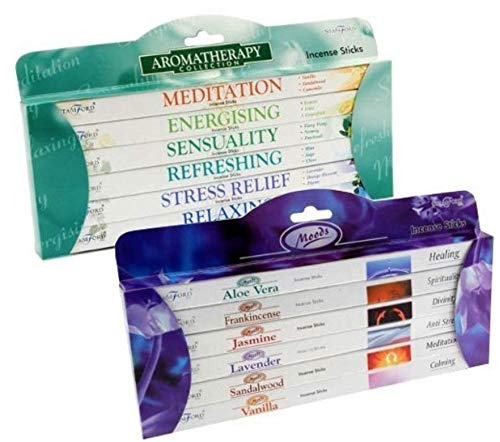 STAMFORD INC. 27281 Set of 96 Incense Sticks - Moods and Aromatherapy by...