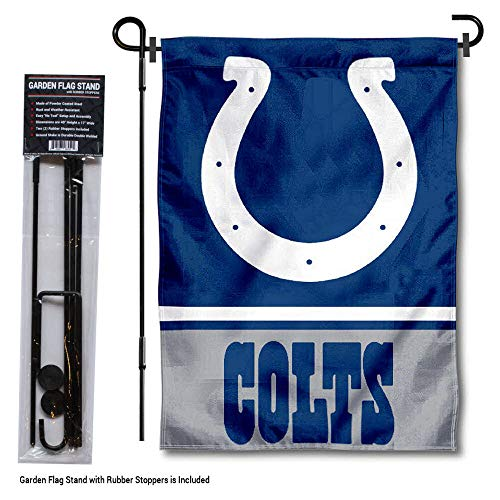 - WinCraft Indianapolis Colts Garden Flag with Stand Holder