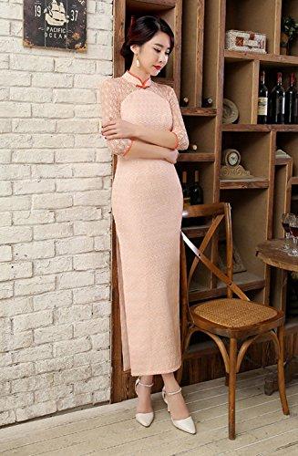 Lang ACVIP Schlitz Süß Chinesische Damenkleid Kragen Cheongsam Spitze Art qqwTEfr