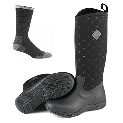 Muck Boots Muck Arctic Adventure Boots Black Quilt w/Socks - by Muck Boot