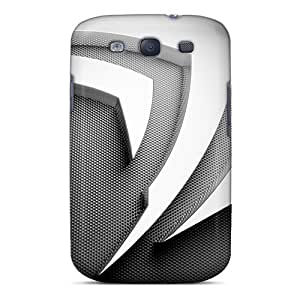 For Galaxy S3 Tpu Phone Case Cover(nvidia Silver)