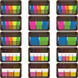 TecUnite 1180 Pieces Index Tabs Page Marker Tabs Neon Flag Sticky Notes, 15 Sets 5 Styles