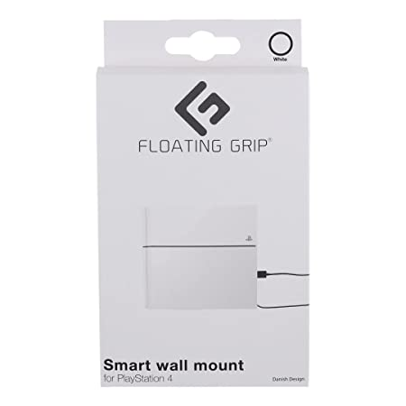 Amazon.com: FLOATING GRIP PS4 Original, Playstation 4, Vertical Wire Wall Mount (White), Patent Pending and Proprietary Design, Made in Denmark: Home & ...
