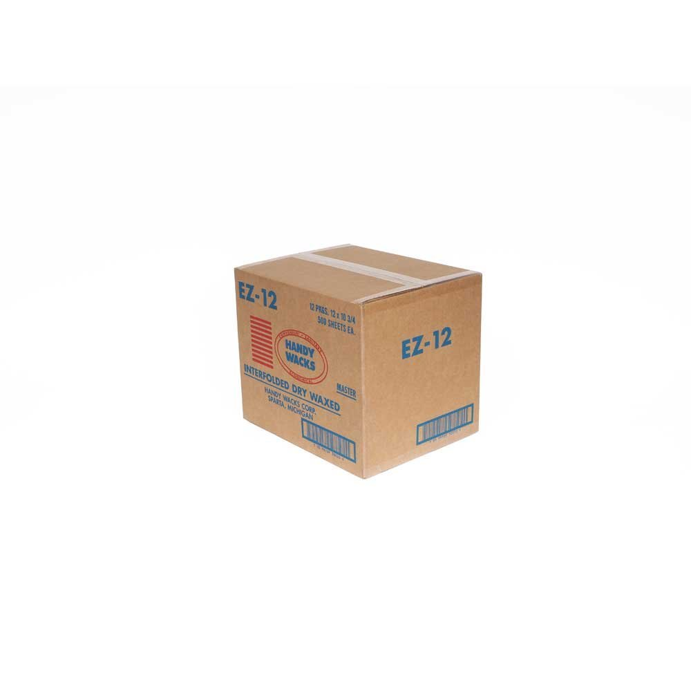 12X10.75 Interfolded Deli Dry Wax Tissue, 500 per pack -- 12 packs per case