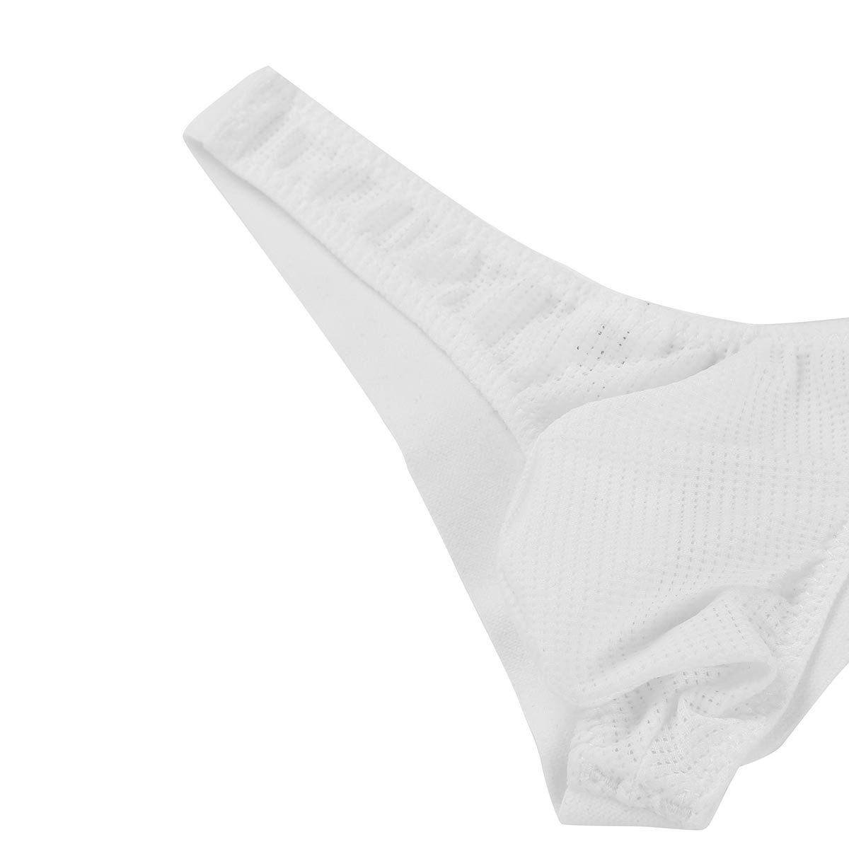 Agoky Mens Breathable Mesh See Through Low Rise G-String Thong Underwear Bikini Briefs