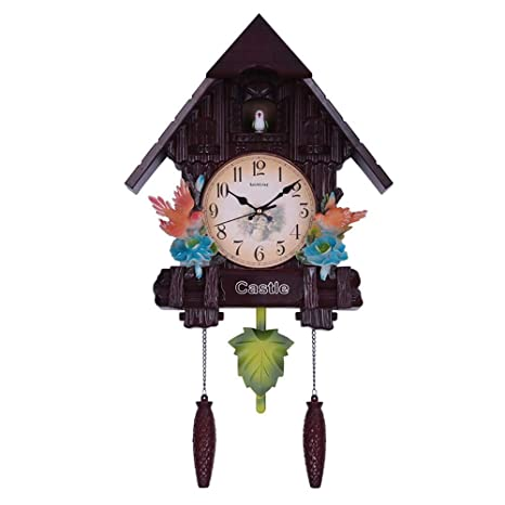 Buy Three Secondz Cuckoo Wall Clock Lovely Children S Room Wall Clock 65 Cm X 16 Cm X 37 Cm Fixed Door Does Not Open Or Close Chocobrown Online At Low