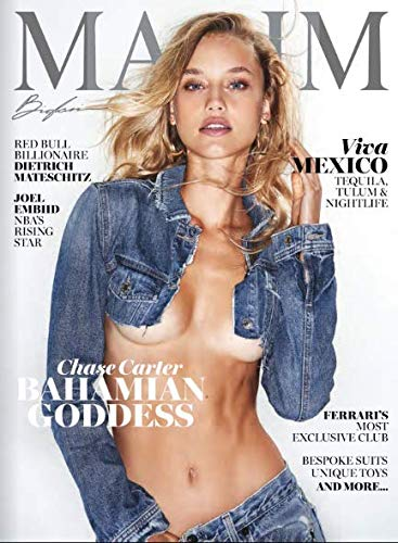 Maxim Men's Magazine Nov/Dec 2018 Chase Carter Bahamian Goddess