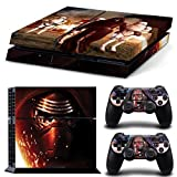 Kylo Ren Star Wars The Force Awakens PS4 Console Designer Skin for PlayStation 4 System with Skins for PS4 Dualshock Controllers