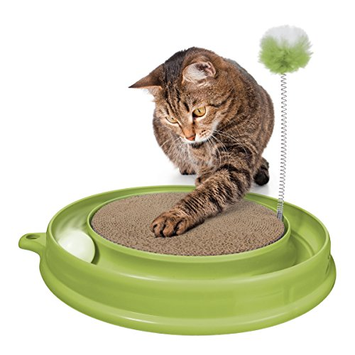 catit 51096 Katzenspielzeug Play n Scratch mit Katzenminze, grün