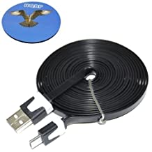 HQRP Extra Long 10ft USB to micro USB Cable / USB Charging Cable for Moga Pro Game Controller plus HQRP Coaster