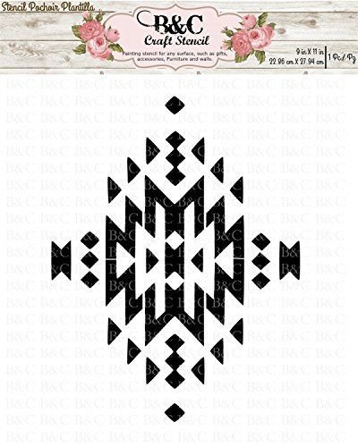 native tribal Aztec stencil for craft and home decoration by B&C Craft Stencils
