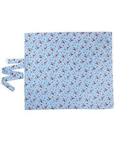 Letuwj - Delantal de Amamantamiento de Mamá Cielo azul + cereza Un tamaño (98 * 57)