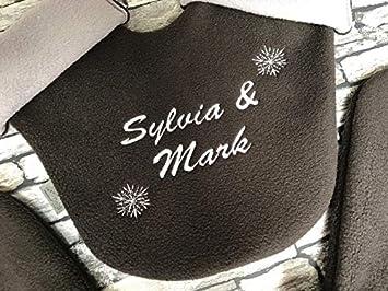 Partnerhandschuhe aus Doppelfleece mit Namen