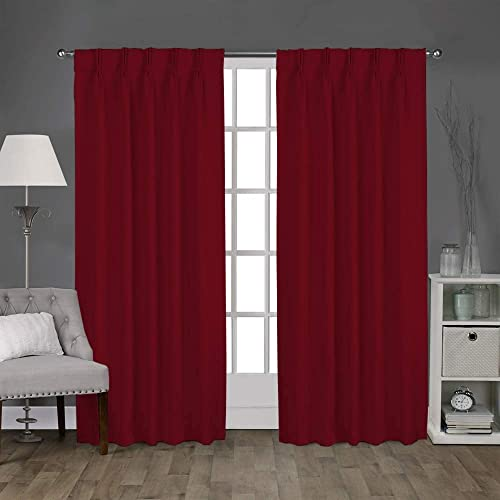Magic Drapes Double Pinch Pleated Thermal Insulation Blackout Curtains Window Panel