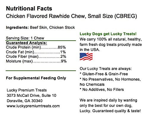 Pictures of Lucky Premium Treats Chicken Basted Rawhide Dog 3