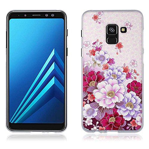 Funda Samsung Galaxy A8(2018) A530F, Carcasa Protectora de Silicona de Calidad Superior -FUBAODA- Decorada con una Simpátic Cebra de Dibujos Animados, Buen Diseño, Elegante y Agradable al Tacto, Resis pic:7